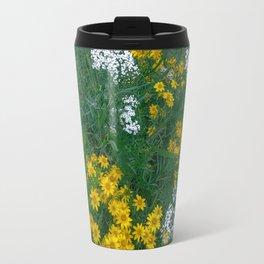 Flowers On the Edge Travel Mug