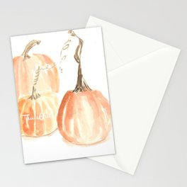 Thankful Twisted Stem Pumpkins (in watercolor) Stationery Cards