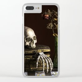 Vanitas, Memento Mori, Macabre Halloween Photo Clear iPhone Case