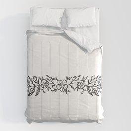 Cherry Blossom Wreath Illustration— Cherry Blossoms Cuff Design Comforters
