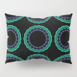 Abstract circles on black background Pillow Sham