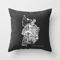 amsterdam Throw Pillows featuring AMSTERDAM by Nicksman