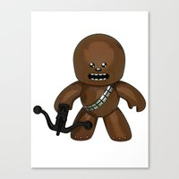 chewbacca Canvas Prints featuring Chewbacca by gotselvedge.com