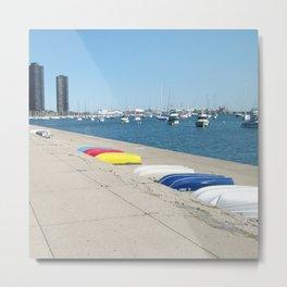 Chicago, Chicago shoreline, Skyline, Lake Michigan Metal Print