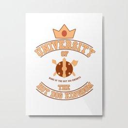 Adventuree Time College: University of the Hot Dog Kingdom Metal Print