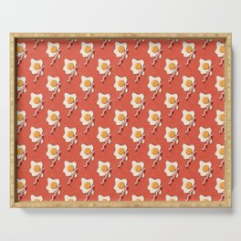 FAST FOOD / Egg and Bacon - pattern Serving Tray