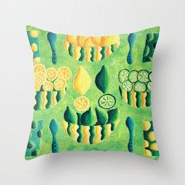 Lemoms and Limes Throw Pillow