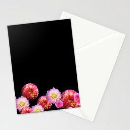 Dahlias on Black Stationery Cards