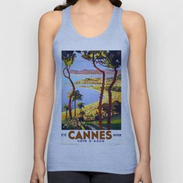 Vintage Cannes Summer Unisex Tank Top