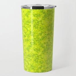 Marble , neon green , texture Travel Mug