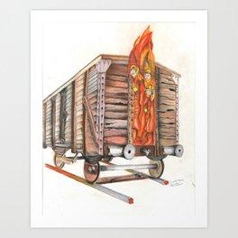 Death Traing Art Print