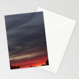 smoky colored sunset Stationery Cards