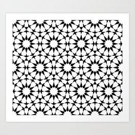Arabesque in black and white Art Print