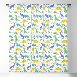 Dinosaurs + Rainbows Blackout Curtain