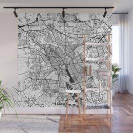 Hanover Map Gray Wall Mural