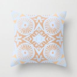 artisan: unbroken chain (in periwinkle & copper) Throw Pillow
