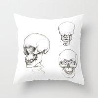 anatomy Throw Pillows featuring ANATOMY by Andreas Derebucha