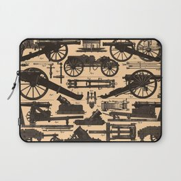 Vintage Illustration of Cannons & Artillery (1907) Laptop Sleeve