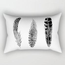 Feather Trio | Black and White Rectangular Pillow