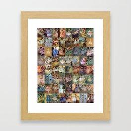 Edgar Degas Dancers Montage Framed Art Print
