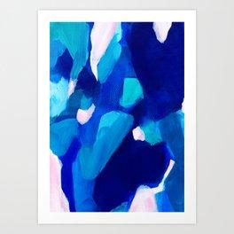 Dreaming of blue Art Print