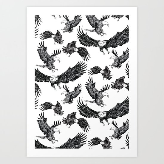 Eagles Pattern Art Print