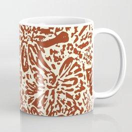 Marigold Lino Cut, Sepia Coffee Mug
