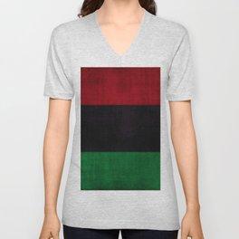UNIA flag, Afro-American flag, Black Liberation flag Motif Unisex V-Neck