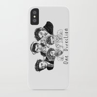 one direction iPhone & iPod Cases featuring One Direction by Hollie B