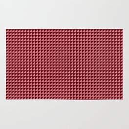 Red Triangulate Rug