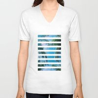palm trees V-neck T-shirts featuring PALM TREES by C O R N E L L