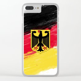 Germany's Flag Design Clear iPhone Case