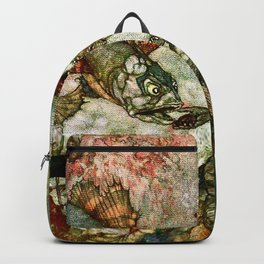 """""""King of the Mermaids"""" Fairy Tale Art by Edmund Dulac Backpack"""