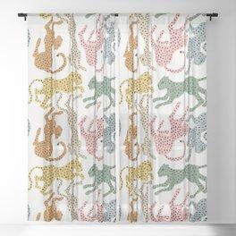 Rainbow Cheetah Sheer Curtain