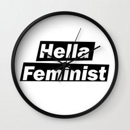 Hella Feminist v2 Wall Clock