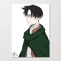 levi Canvas Prints featuring Levi Ackerman by PaigeAWArt