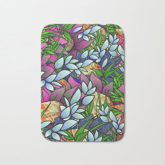 Floral Abstract Artwork G464 Bath Mat