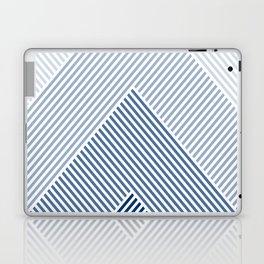 Shades of Blue Abstract geometric pattern Laptop & iPad Skin