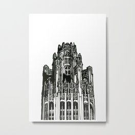 Triptych 3 - Tribune Tower - Original Drawing Metal Print