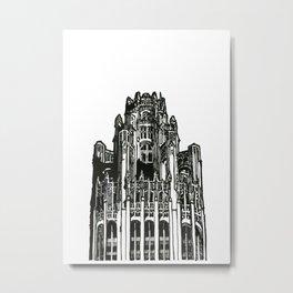 Triptych 3 - Tribune Tower - Original Drawing Metal Print