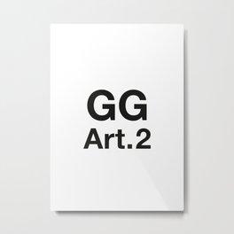GG Art. 2 Metal Print