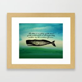 Moby Dick - The Madness of Men Framed Art Print