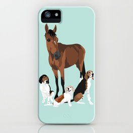 Horse and hounds iPhone Case