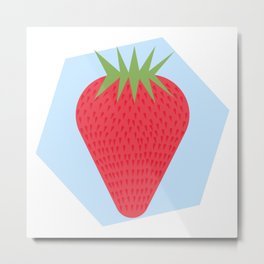 Strawberry Background Metal Print