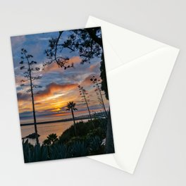Colorful Sunset at Lookout Point Stationery Cards