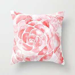 Petals of a Rose Throw Pillow