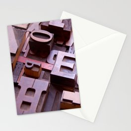 3D Letters - Typography Photography™ Stationery Cards