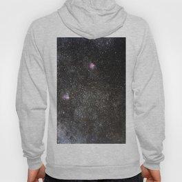 Starry sky with millions of stars, Milky Way galaxy, Eagle nebula, Omega nebula Hoody