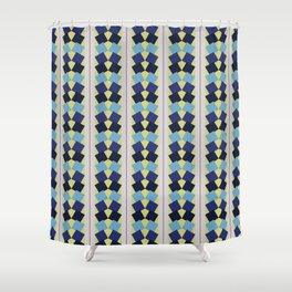 Fanned Squares Shower Curtain