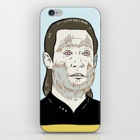data iPhone & iPod Skins featuring Data Wolf by Mike Force